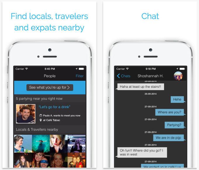 #5 Party with a Local 這款App推薦給喜歡嘗試新鮮事物,想要融入當地生活的旅行者們!透過App可以與當地人聯繫與對話,認識新的朋友!
