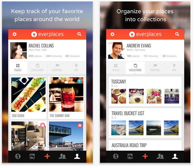 #8 Everplaces 這是一個分享美食與景點的旅行App,除了幫助你記錄旅行的回憶,也能在上面找到別人旅行推薦的好地方。