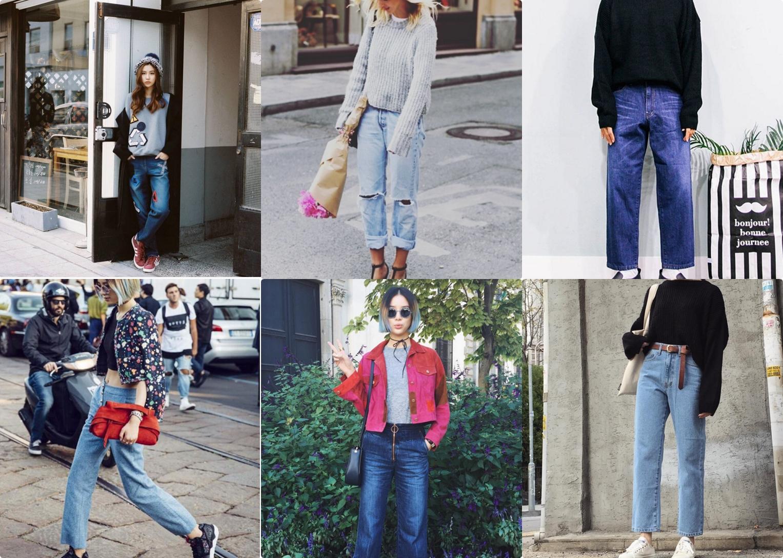 如果不敢嘗試喇叭褲款,可以先考慮直筒寬褲樣式較容易入手喔! 搭配厚底球鞋or休閒鞋超輕鬆,好想立馬出門逛街~~(誤)