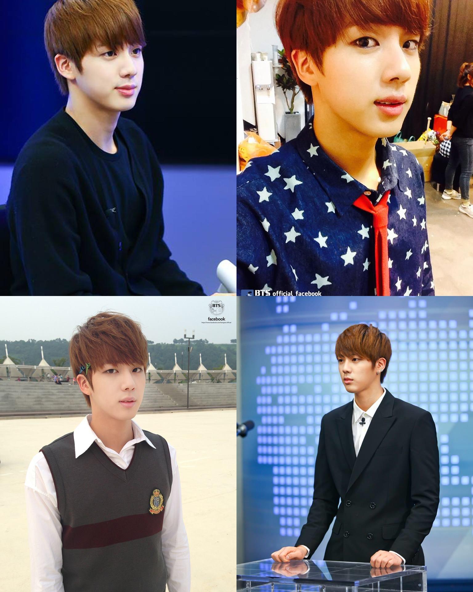 另外,Jin 也是對內的門面擔當喔 ♡ (゚∀゚ ) 而且他的肩膀比例也很好看,所以還有肩膀美男的稱號。