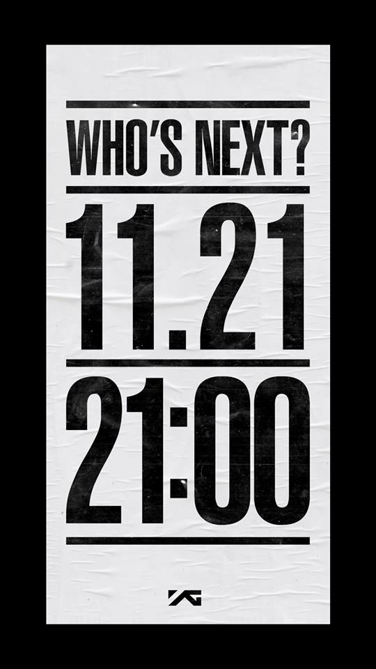 11 月初的時候, YG 娛樂不是公布了這張照片嗎?