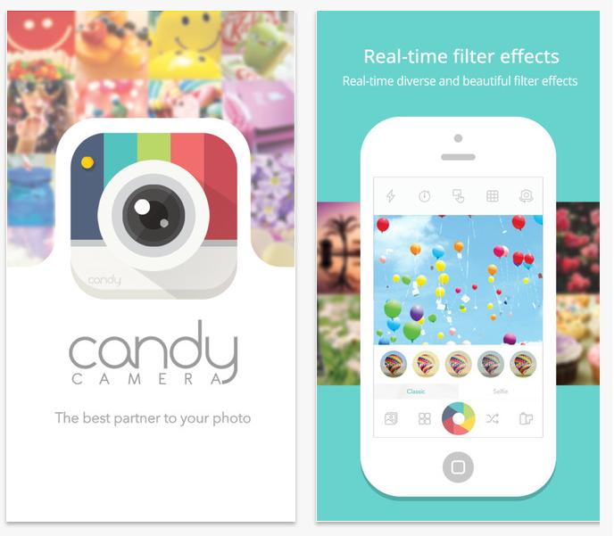 ★ 第三款 :: Candy Camera ★  這款也是韓星常用的 app,像是 EXO 的 KAI 就有用過喔!