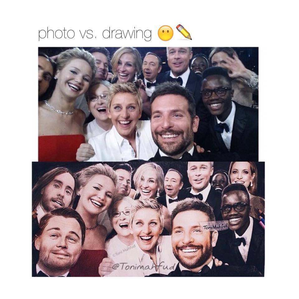 照片與手繪比較..... ⊙◞౪◟⊙