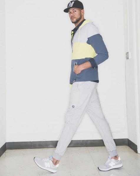 用穿搭來做解釋比較快吧,男生穿起來其實就是休閒運動風的感覺