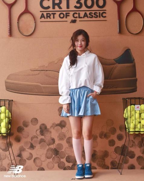 女星金裕貞也參加過CRT300的活動,學生風的穿搭超可愛的