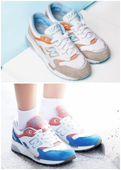 1600系列雖然是跑鞋的設計,但是許多女生會把它拿來做日常的搭配