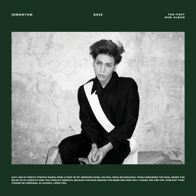 2015. 01. 12 鐘鉉《BASE》  SHINee 的主唱鐘鉉在今年年初的時候,發行了首張個人 SOLO 專輯《BASE》,不僅在音源網站上有很好的成績,也橫掃了各大音樂節目的一位。