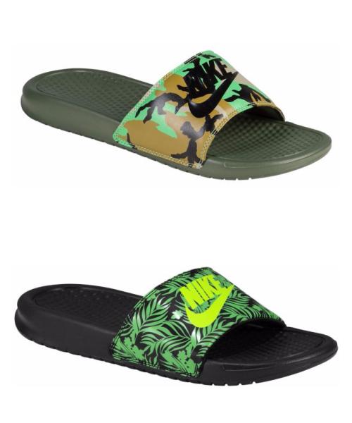 像這樣在LOGO底色做Pattern設計的也有很多,讓運動拖鞋變得完全不單調,也能凸顯個人的品味。