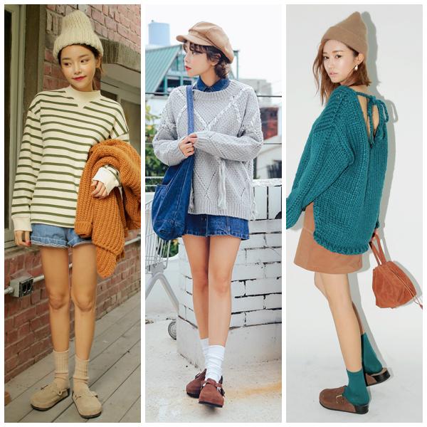 不過說到勃肯鞋款,冬天還是最適合穿這種麂皮設計的包頭鞋,搭配襪子超可愛的啦~