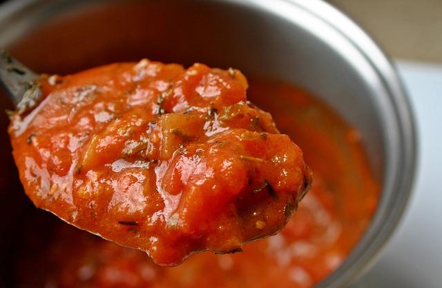 4. 含有番茄醬的食物