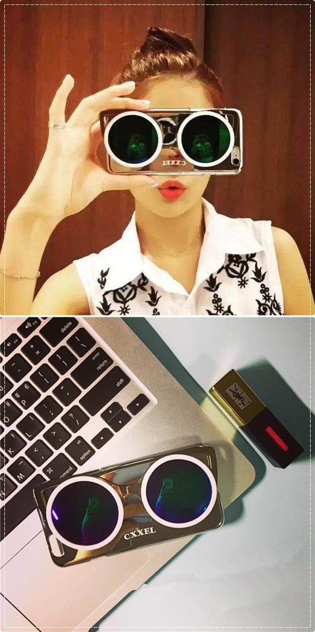 在許多韓國部落客間相當受歡迎的3D墨鏡設計手機殼,讓人也忍不住拿起來自拍~