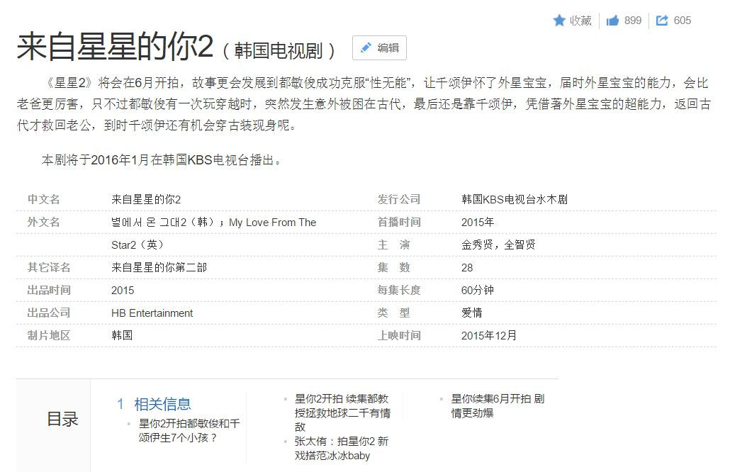 甚至中國網站百度上已經有詳細的劇情介紹,但是眼尖的你發現了嗎?