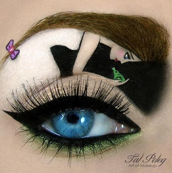 # 童話 <青蛙王子> 青蛙正想要吻公主. 用眉毛表現出公主的頭髮,好細膩哦!