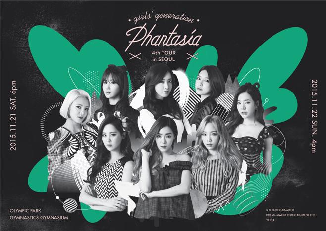 11月 21 ~ 22日舉辦《GIRLS' GENERATION 4th TOUR – Phantasia – in SEOUL》。