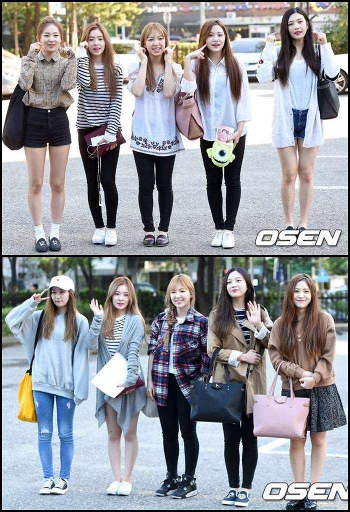 像 Red Velvet 也常常穿黑褲,只要搭一件襯衫或是最近很流行的格子外套,就會很好看了 ♡