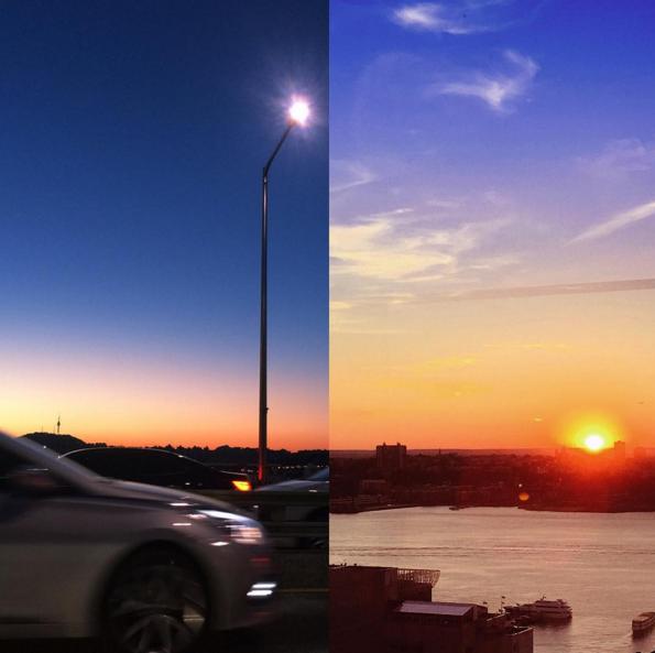 我這邊夕陽,你那邊黎明