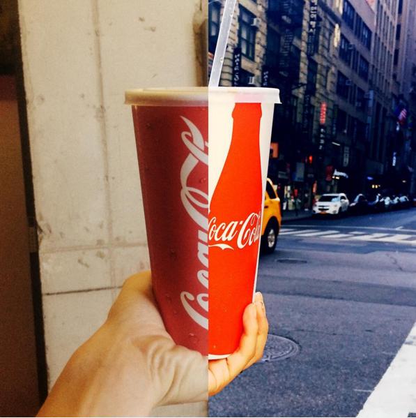 一樣喝可樂~  *點擊後,可連結至Instagram