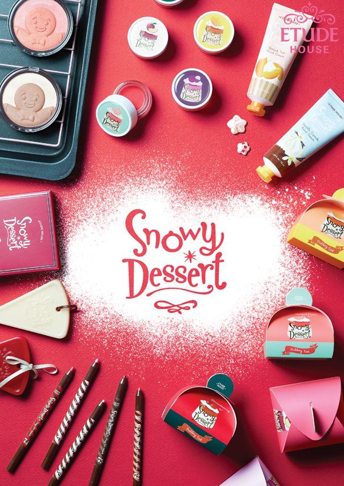 Etude House推出「Snowy Dessert」 光是這排列組合看起來就想買啊~(抱頭)