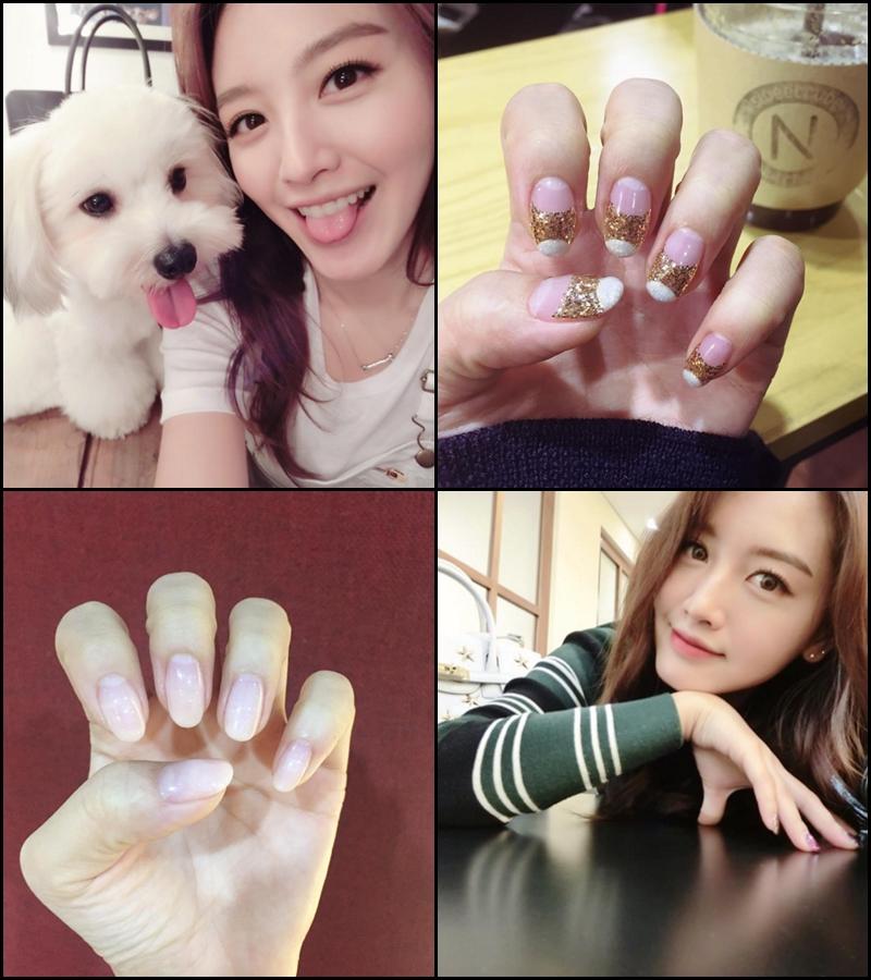 ♡ #네일스타그램  「네일스타그램 =nails+Instagram」 這個 tag 女孩們一定要記起來!因為可以看到韓國的指甲彩繪圖案喔。