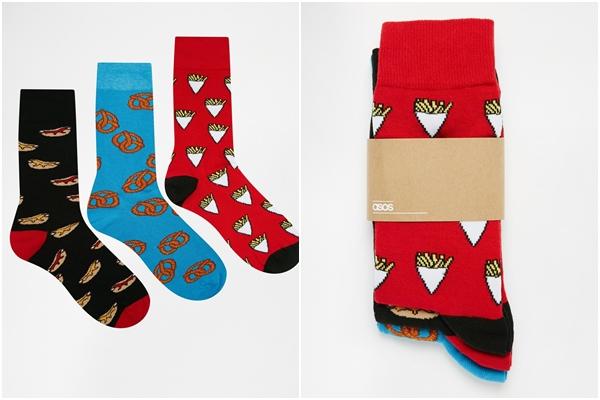 在歐美時尚圈最近吹起了食物風格的小物設計,如果想在冬天上網買到獨一無二的襪子,可以選在聖誕節期間上網逛逛,會有打折喔!