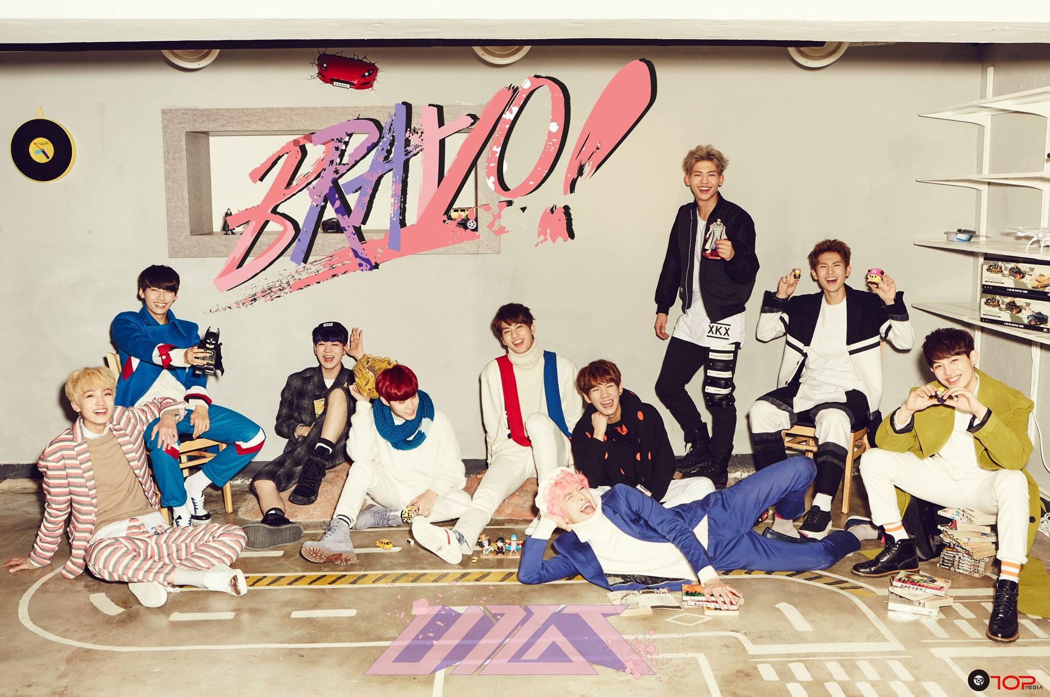 新人團體「Up10tion」也選在 27 日公開第二張迷你專輯《BRAVO!》主打歌「Catch me!(여기 여기 붙어라)」的音源和 MV。