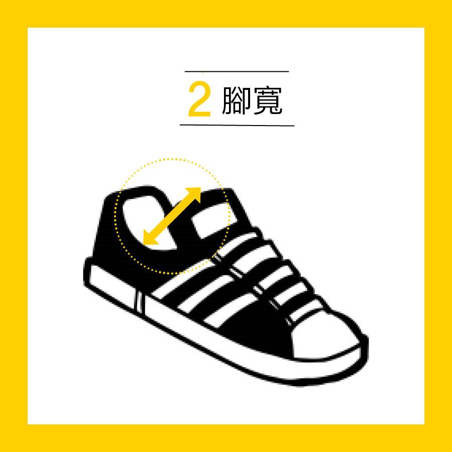 穿上運動鞋之後,一定要確認看看腳在鞋裡時能不能很自由的移來移去. 鞋最寬的部分,也就是腳背,摸到腳背時不能太緊,要有足夠的空間會比較好哦!