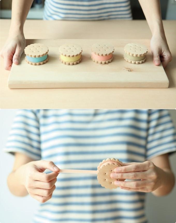 #夾心餅乾造型膠台 NT.950 不說還以為是不同口味的夾心餅乾,粉嫩得好可愛喔!