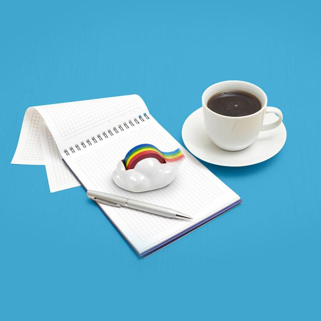 彩虹與雲朵充滿想像空間,工作中也能來場白日夢吧!NT.410