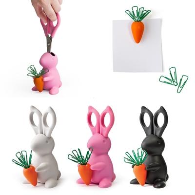 #兔兔造型剪刀&迴紋針組 NT.850 耳朵變剪刀!紅蘿蔔是迴紋針!這樣的組合太CUTE,當做裝飾品也可以~
