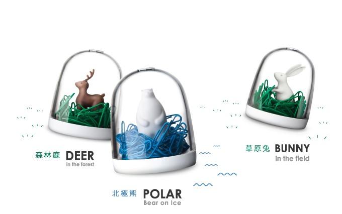 原來迴紋針還能是北極熊的海洋、兔子&小鹿的草原...這怎麼捨得用啊!各NT.420