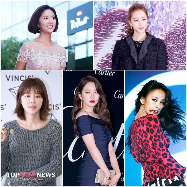 女星的話除了朴韓星、李孝利、韓藝瑟、黃靜茵、尹恩惠以外