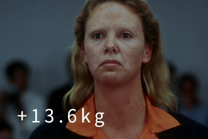 《女魔頭》 (2004) (+13.6kg) 「為了長胖,開始吃Krispy Kreme 甜甜圈」