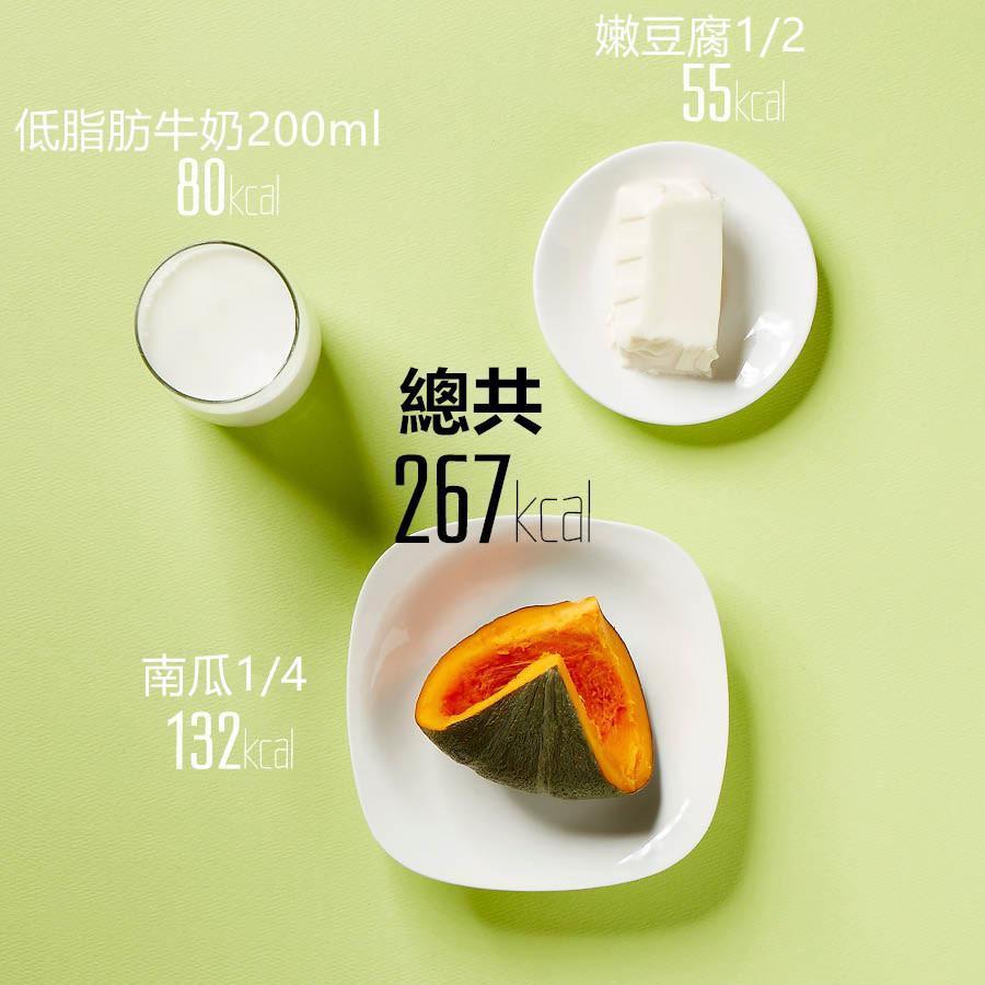 南瓜好吃又有豐富的營養,但沒有足夠的蛋白質,嫩豆腐可以補充沒有的蛋白質,但是不能放太多的豆腐哦,放太多的話豆腐味道會蓋住南瓜味,因此放適量最好.