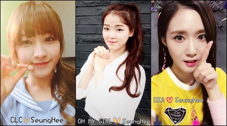 沒錯沒錯!主唱的名字都叫「Seung Hee(승희)」喔!