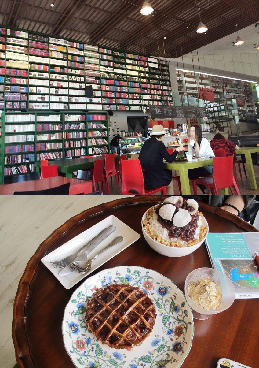 上圖是之前拍攝我結世界版李洪基和美菜第一次見面的咖啡廳,《她很漂亮》也在這取景過! 下圖則是另外一間咖啡廳,有賣韓國傳統的紅豆冰和一些甜點~