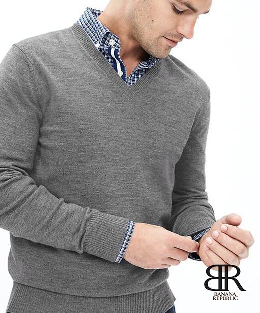 Extra-Fine Merino Wool Vee Sweater Pulloverㅣ$69.50 折扣價 34.75 (約台幣 1,120)