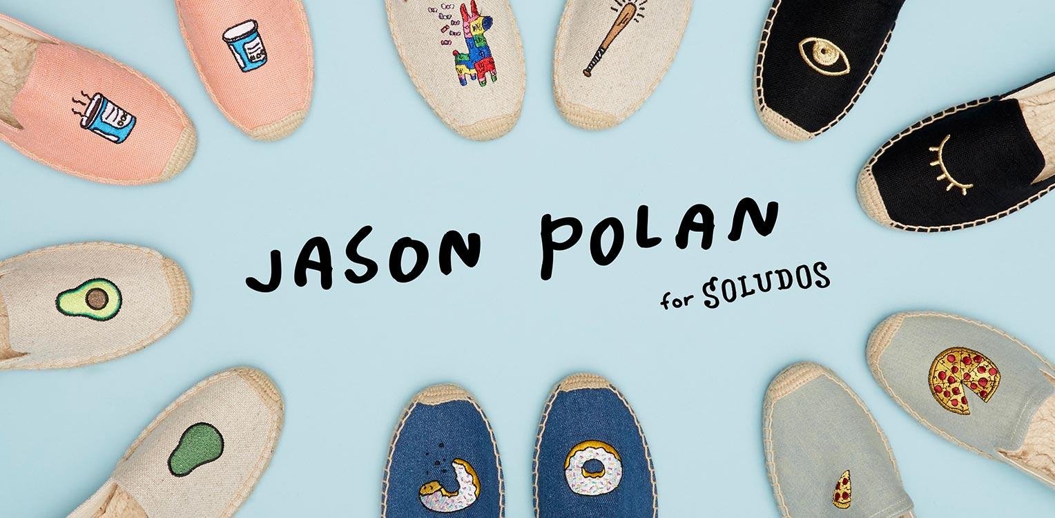 來自紐約的Soludos能將草編鞋創造出與樂福鞋相當的時尚創意感,並不會因為舒適而看起來太隨便,最近和Jason Polan聯名設計的鞋也太可愛了吧~