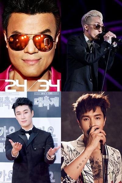 男solo歌手更是老中青都有XDD 風格也很多元有趣唷~包含JYP、Zion.T、San E與神話的金烔完都會參加