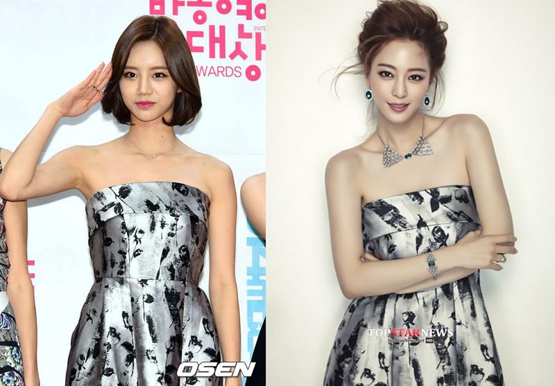#Girl's Day 惠利 & 韓藝瑟 同樣的洋裝,分別襯出惠利的氣質和韓藝瑟的高雅