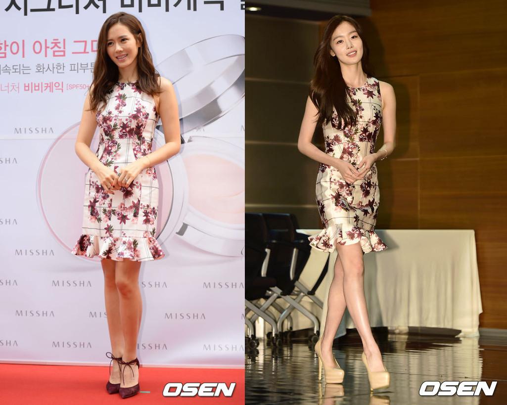 #孫藝珍 & Secret 韓善伙 容易顯老的印花洋裝,兩位穿起來都很有氣質