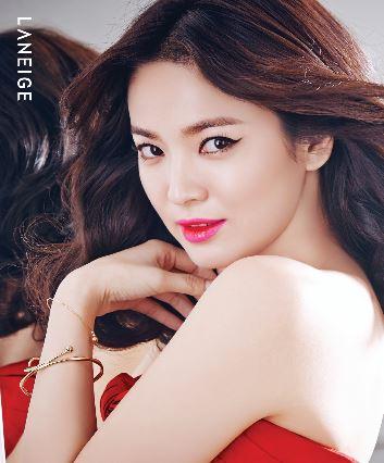 #第二 蘭芝 典型的韓流明星宋慧喬代言的品牌