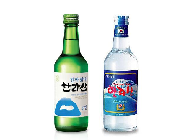#第三 漢拏山燒酒 變成中國人觀光名所的濟州島,跟著漢拏山燒酒也非常受中國人喜愛. 尤其是非常受中國20年代年輕女生歡迎.