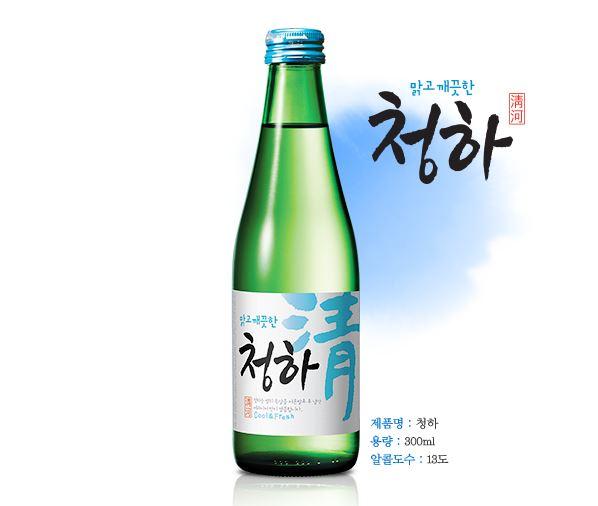 #第一 清河燒酒 因為韓流在中國也有很多韓食非常有人氣, 在中國本地因為清河燒酒是一個非常適合跟韓食一起搭配的酒,因此清河燒酒被排為最受歡迎的韓國燒酒.
