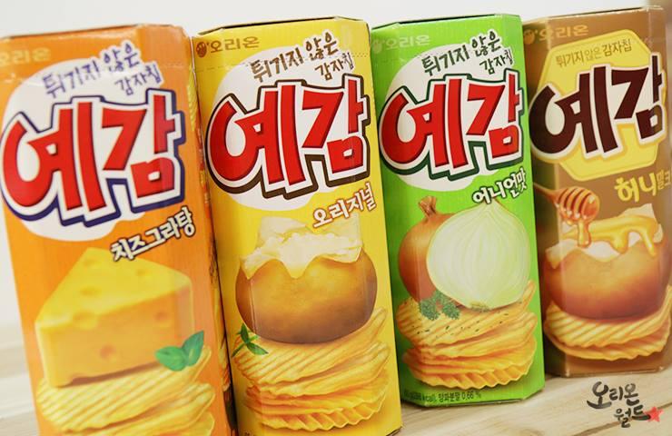 #第二 예감洋芋片 隨著中國的所得水準上升後,零食口味從米製作的零食變成了洋芋片. 在各個洋芋片中예감洋芋片的人氣最.
