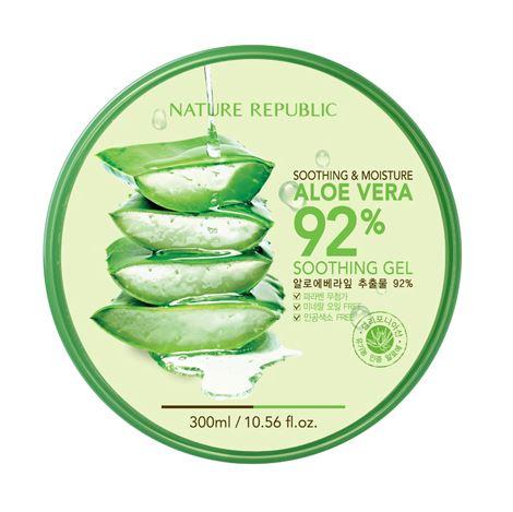 10. Nature Republic 92%蘆薈補水修護保濕凝膠 便宜又大碗的蘆薈膠,吸收力很好 未添加任何防腐劑及礦物油,臉部和身體都可以用 夏天曬傷可以鎮定皮膚,冬天則可以保濕
