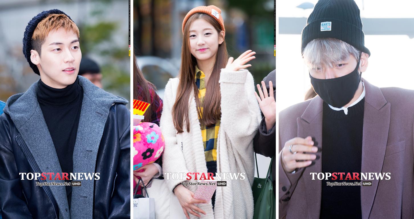 4.尖毛帽 尖尖的捲邊毛線帽一到冬天不僅是路人,就連韓星也很愛,記住要往後拉,絕對不能遮住額頭。當然最重要的還是顯臉小。