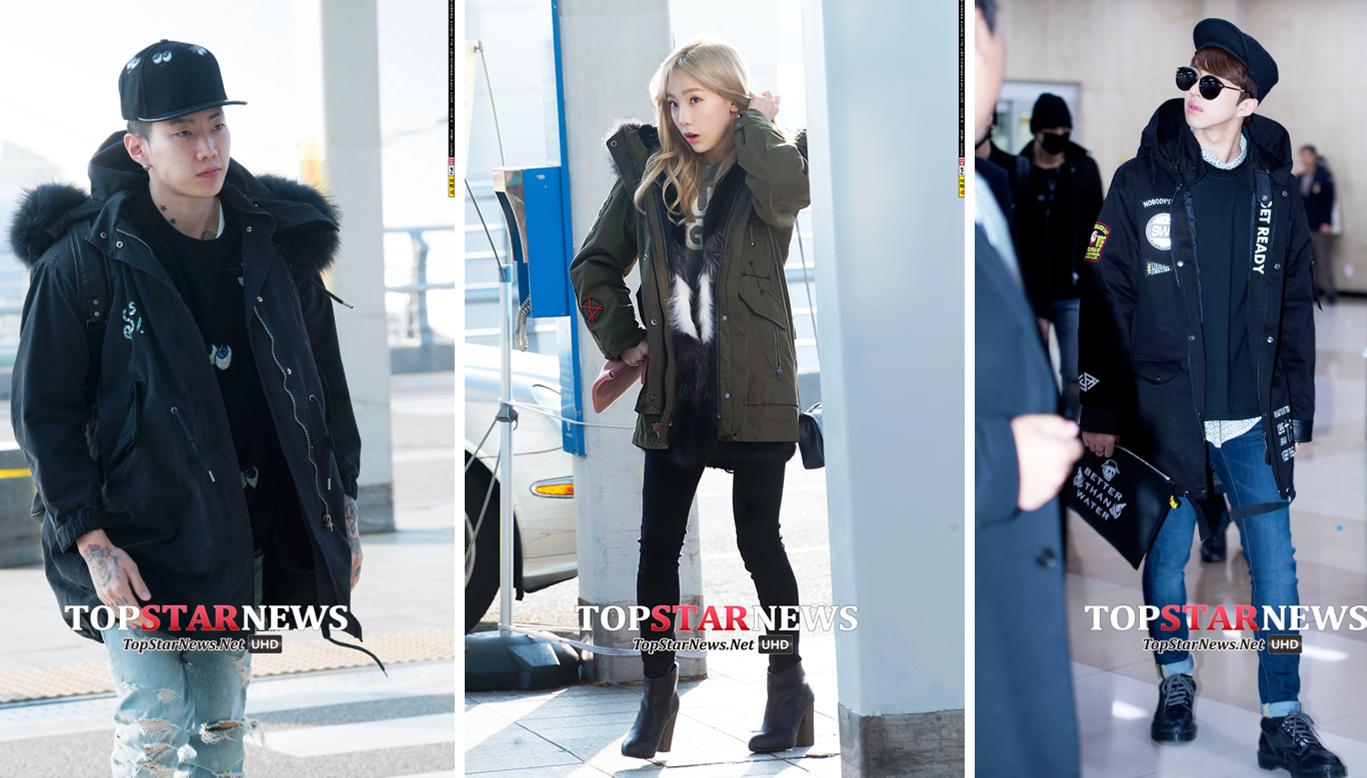 10. 軍工棉外套 這種材質的棉外套每年冬天在韓國都很流行,最常見的就是軍綠色和黑色,跟牛仔褲是最mix的搭配。