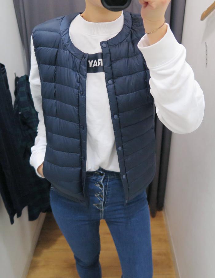 (海軍藍ㅣM size)  和男生的俐落感不同 女生的圓領設計則多了些溫和的氣質