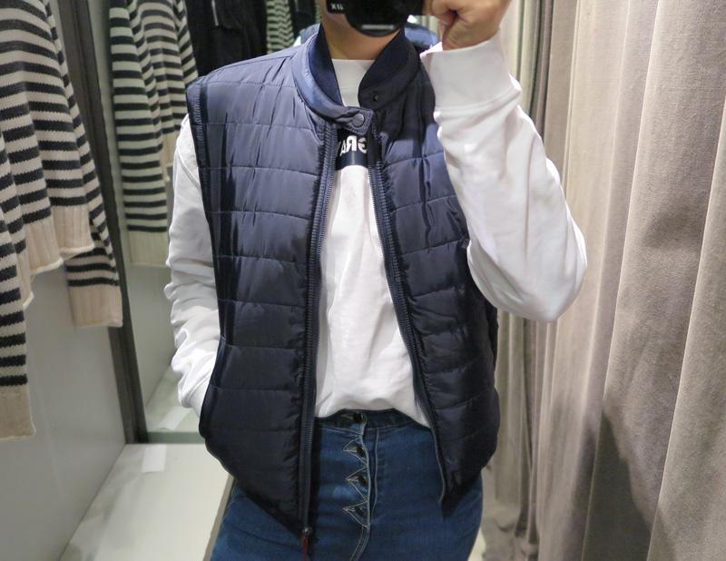 雖然是Zara 但價格相對下來十分划算 不只能作為外搭 在更冷一些時 在外出的長版大衣底下再搭一件他們家的背心似乎也不會顯得壅腫