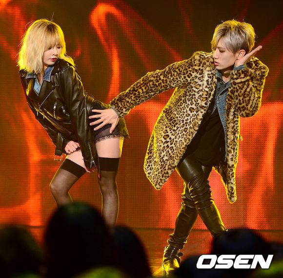 不僅MV影像和歌詞內容都在挑戰韓國公開播放的極限 就連舞蹈也非常的大膽奔放 不過大家也無法否認這就是「trouble maker」的魅力